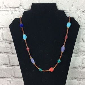 Festival chic long beaded necklace